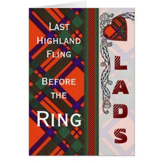 Machintosh Scottish Tartan Card