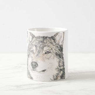 Macho alfa de la taza de café del lobo