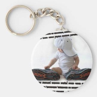 macho basic round button keychain