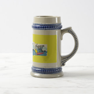 macho beach beer beer stein
