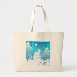 Macho blanco bolsa tela grande