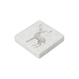 Macho blanco imán de piedra