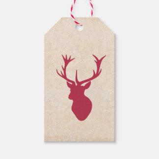 Macho del navidad del vintage etiquetas para regalos