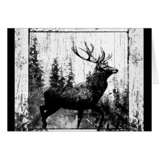 Macho del vintage, animal de los ciervos tarjetas
