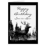 Macho del vintage del yerno del feliz cumpleaños,  tarjetas