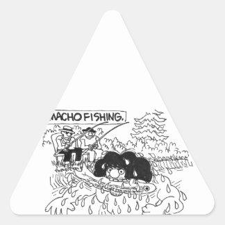 Macho Dishing! Triangle Sticker