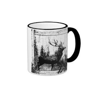 Macho en blanco y negro, animal de la apariencia v taza