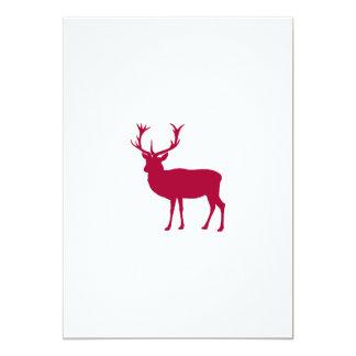 """Macho europeo del ciervo común - fiesta de macho invitación 5"""" x 7"""""""