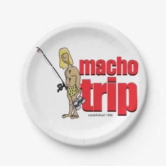 Macho Logo Paper Plates