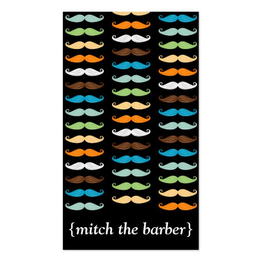 Macho Mustaches Vertical Bizcard Business Card Templates