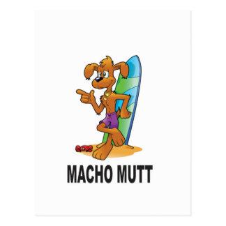 macho mutt yeah postcard