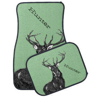 Macho personalizado de los ciervos alfombrilla de auto