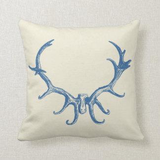 Macho retro del arte de la caza de la asta rústica almohada