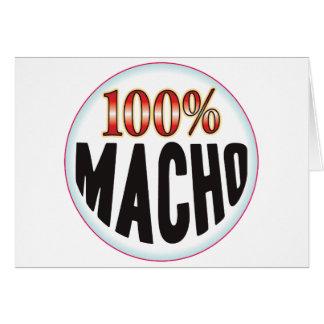 Macho Tag Greeting Card