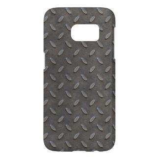 Macho Tough Gray Textured Industrial Metal Samsung Galaxy S7 Case