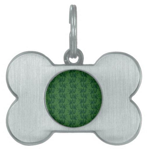 Macho verde placas mascota