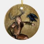Macho y cuervo personalizados alrededor del ornamentos de reyes magos