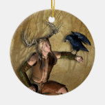 Macho y cuervo personalizados alrededor del orname ornamentos de reyes magos