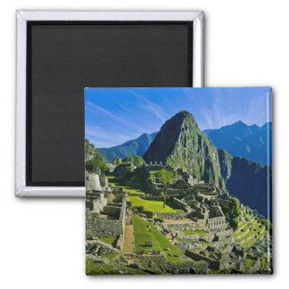 Machu antiguo Picchu, refugio pasado de los 2 Imán Cuadrado