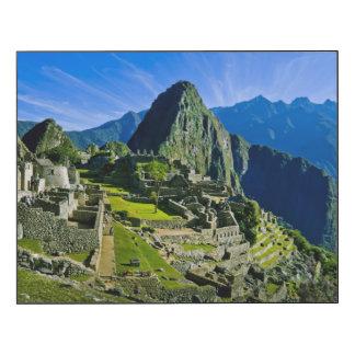 Machu antiguo Picchu, refugio pasado de los 2 Impresión En Madera