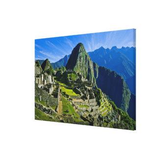 Machu antiguo Picchu, refugio pasado de los 2 Impresiones En Lienzo Estiradas