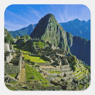 Machu antiguo Picchu, refugio pasado de los 2 Colcomanias Cuadradass