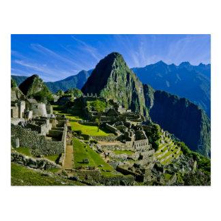 Machu antiguo Picchu, refugio pasado de los 2 Postal
