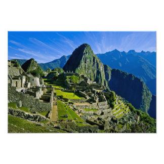 Machu antiguo Picchu, refugio pasado del Cojinete