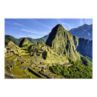 Machu antiguo Picchu, refugio pasado del Impresion Fotografica