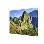 Machu antiguo Picchu, refugio pasado del Impresión En Lona Estirada