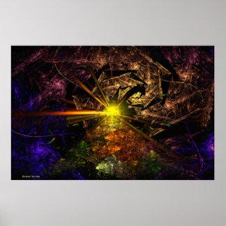Machu Picchu 3D Fractal Art Poster
