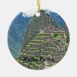 Machu Picchu Adorno Redondo De Cerámica
