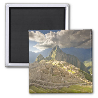 Machu Picchu, ancient ruins, UNESCO world 2 2 Inch Square Magnet