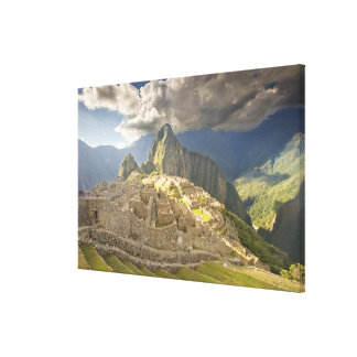 Machu Picchu, ancient ruins, UNESCO world 2 Canvas Print
