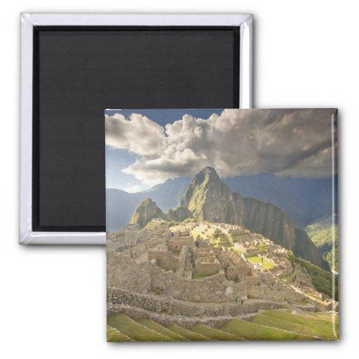 Machu Picchu, ancient ruins, UNESCO world 2 Refrigerator Magnets