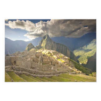 Machu Picchu, ancient ruins, UNESCO world 2 Photo Print