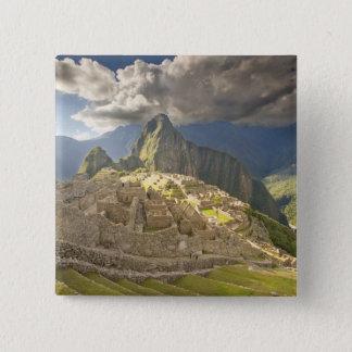 Machu Picchu, ancient ruins, UNESCO world 2 Pinback Button