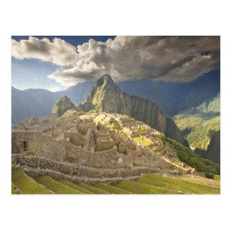 Machu Picchu, ancient ruins, UNESCO world 2 Postcard