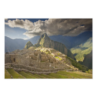 Machu Picchu, ancient ruins, UNESCO world 2 Poster