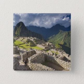 Machu Picchu, ancient ruins, UNESCO world 3 Pinback Button