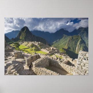 Machu Picchu, ancient ruins, UNESCO world 3 Poster