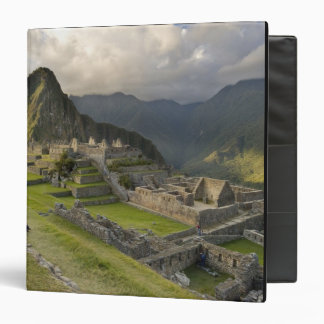 Machu Picchu, ancient ruins, UNESCO world 3 Ring Binder