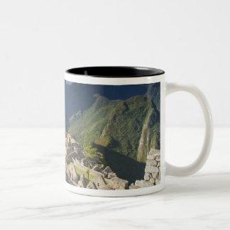 Machu Picchu, ancient ruins, UNESCO world 3 Two-Tone Coffee Mug