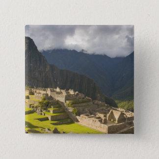 Machu Picchu, ancient ruins, UNESCO world 4 Button
