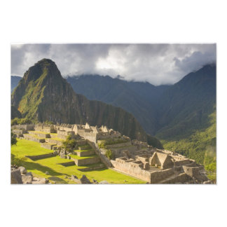 Machu Picchu, ancient ruins, UNESCO world 4 Photo Print