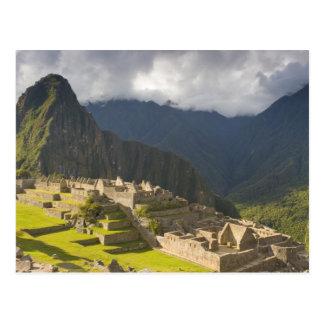 Machu Picchu, ancient ruins, UNESCO world 4 Postcard