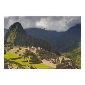 Machu Picchu, ancient ruins, UNESCO world 4 Poster