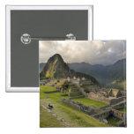 Machu Picchu, ancient ruins, UNESCO world 2 Inch Square Button