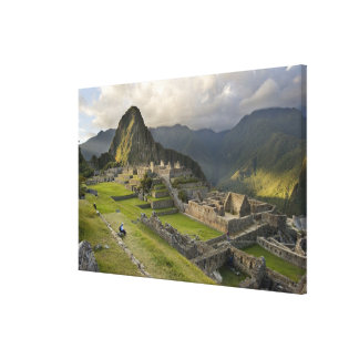 Machu Picchu, ancient ruins, UNESCO world Canvas Print