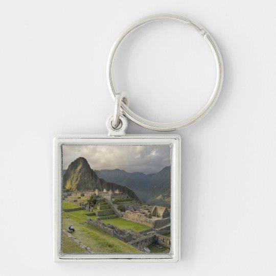 Machu Picchu, ancient ruins, UNESCO world Keychain